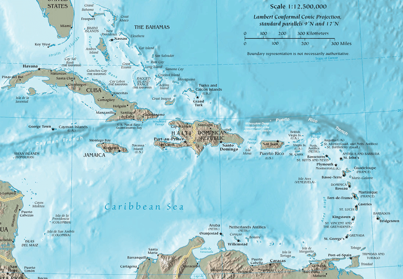 West Indies (The Caribbean)   LAC Geo