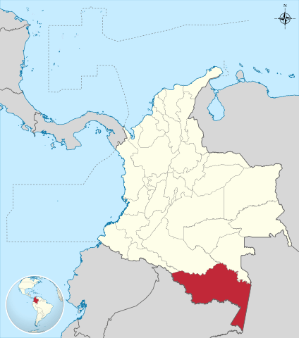 Amazonas department location map in Colombia