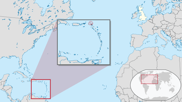 Location map of Anguilla in the Caribbean