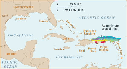 Location map Puerto Rico trench—United States Geological Survey