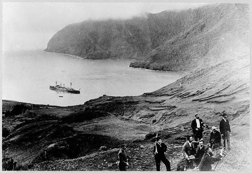 Image of Robinson Crusoe Island from Frank and Frances Carpenter's collection. The photo was taken sometime between 1890 and 1922.