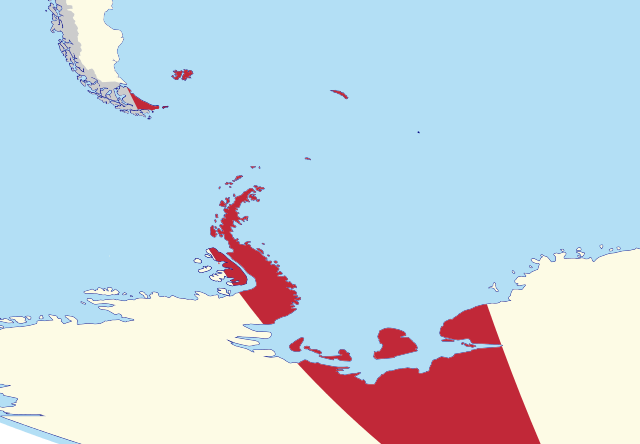 Map of the Province of Tierra del Fuego, including all external territorial claims