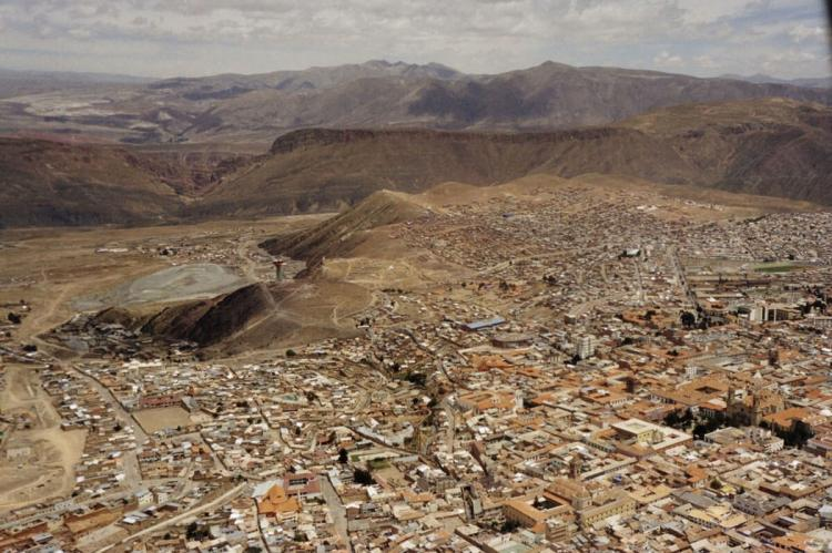 Aerial view of Potosí, Bolivia