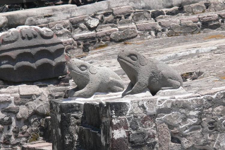 Altar of the toads (c.1470), as symbols of water, Templo Mayor, Mexico City