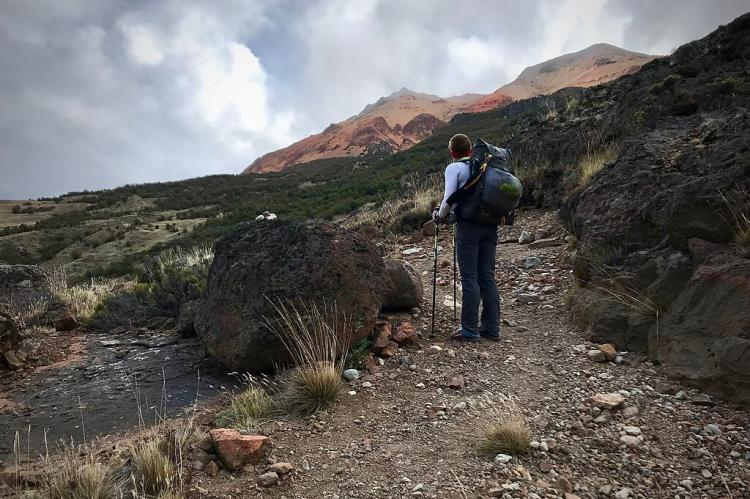Hiking along the Aviles valley trail, Patagonia National Park