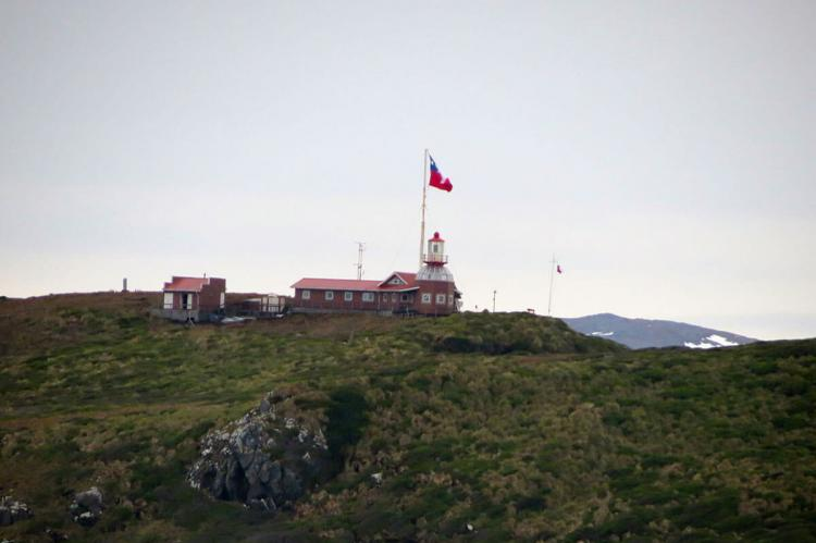 Naval House and Lighthouse in Cabo de Hornos (Cape Horn), Chile