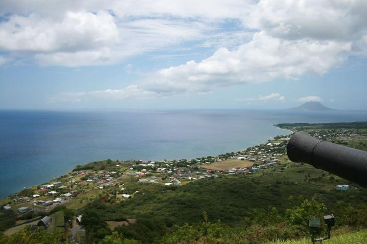 View of Caribbean from Brimstone Hill Fortress, Saint Kitts