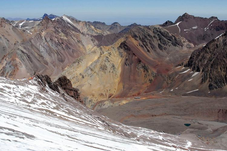 Canada and Plaza de Mulas camps near Aconcagua, Argentina