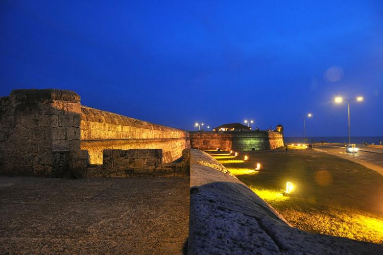View from the Cartagena's fortresses (Colombia)