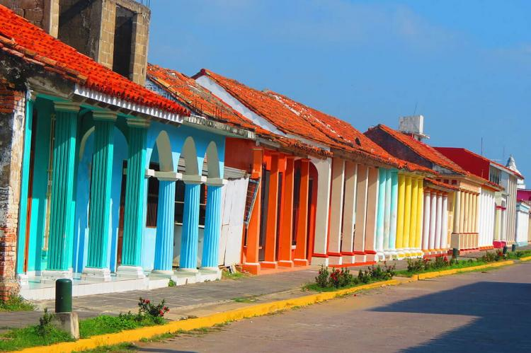 Houses in Tlacotalpan, Veracruz, Mexico