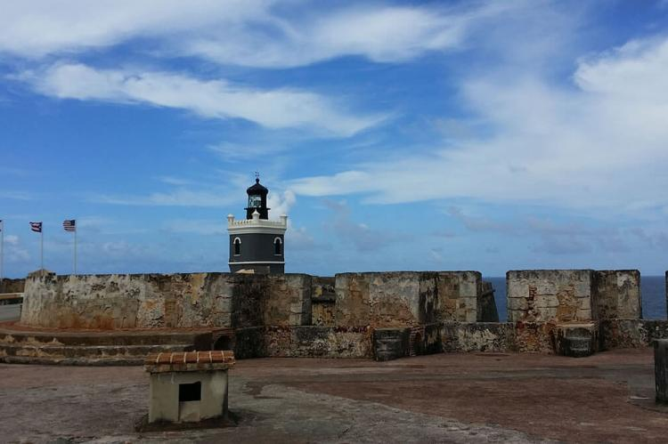 San Felipe del Moro Castle View to Lighthouse, Puerto Rico