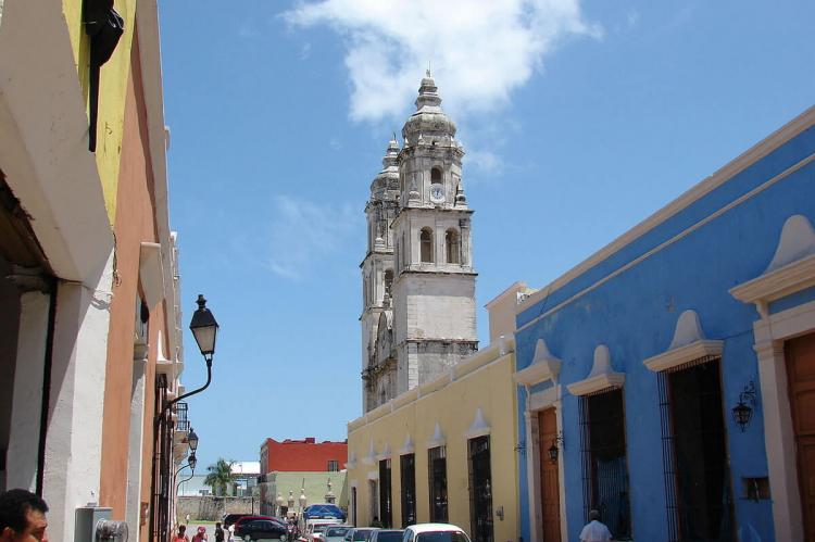 Cathedral of Campeche at 12 street Campeche, Mexico