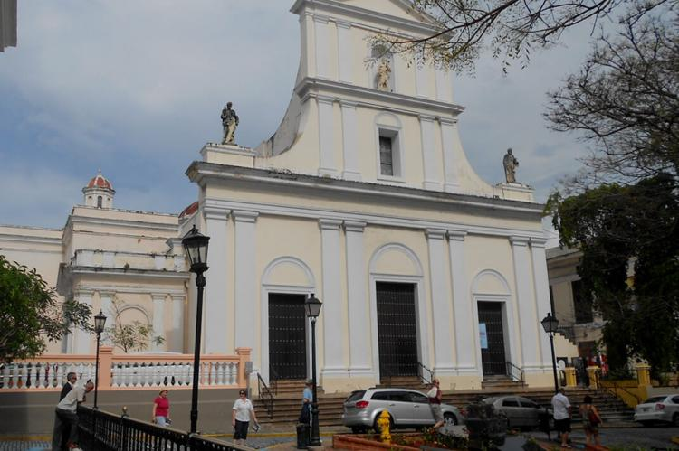 Cathedral of San Juan Bautista in San Juan, Puerto Rico, is one of the oldest churches in the Americas