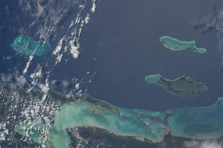 Cayes of Belize (NASA)