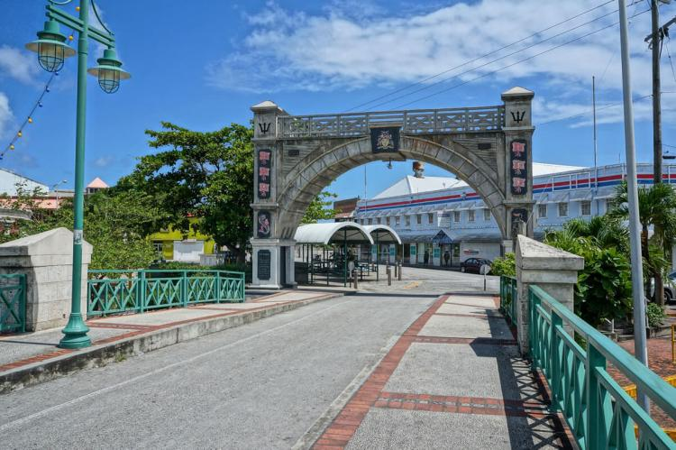Chamberlain Bridge spanning the Careenage, Bridgetown, Barbados