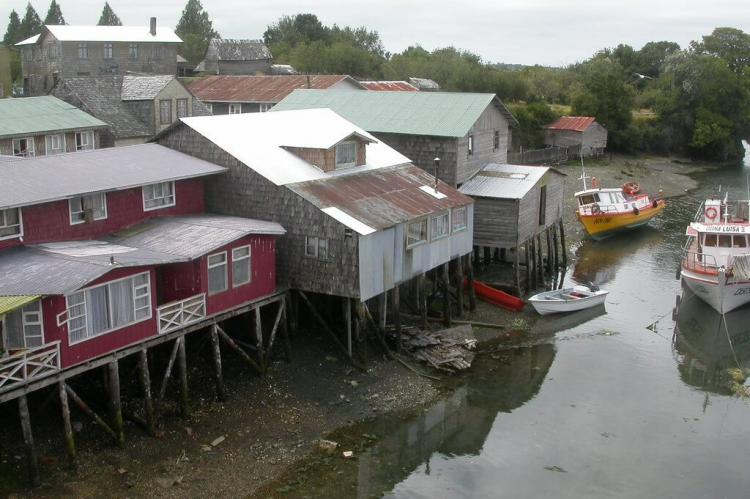 Chiloe houses and boats