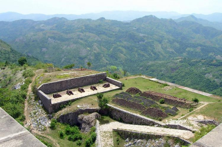 The Citadelle Laferrière, near Milot in Haiti: guns and bullets at the rear