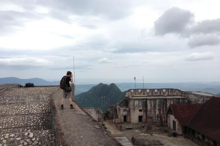 View from the top of the Citadelle Laferriere outside Milot, Haiti