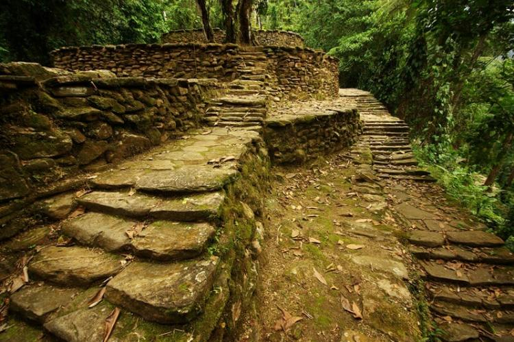 Stairs and walkways, Ciudad Perdida, Colombia