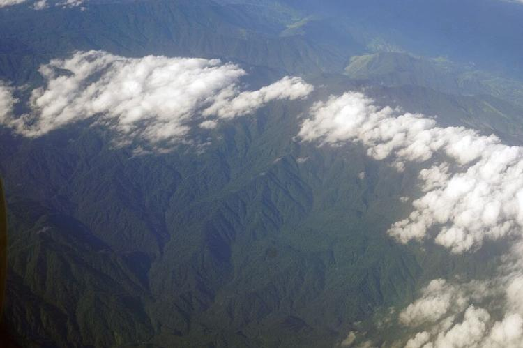 Aerial view of Talamanca mountain range, Costa Rica