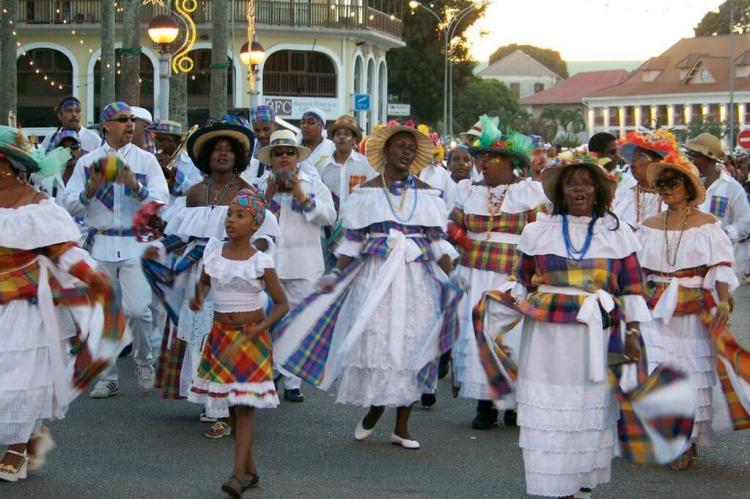 Creole women in traditional wear, Cayenne, French Guiana