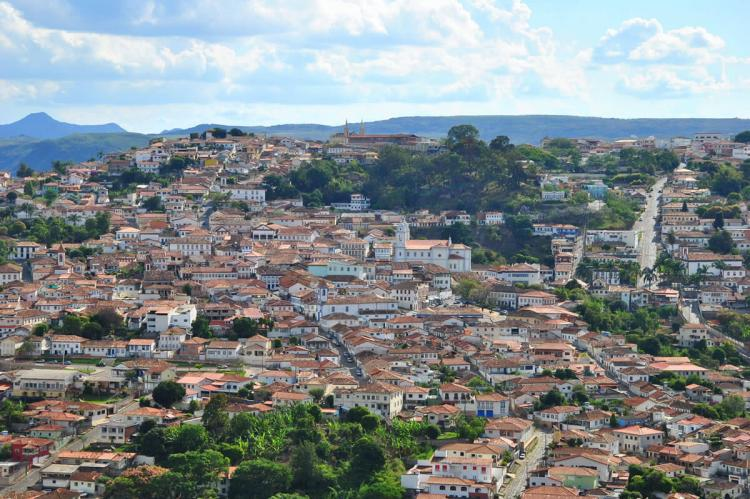 View of  Diamantina, Minas Gerais, Brazil