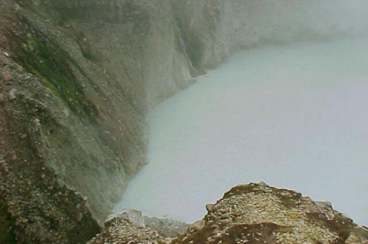 The Boiling Lake at the Valley of Desolation in Dominica