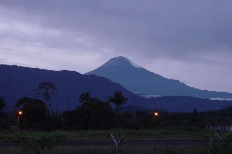 The volcano Sanguay from Macas, Sangay National Park, Ecuador