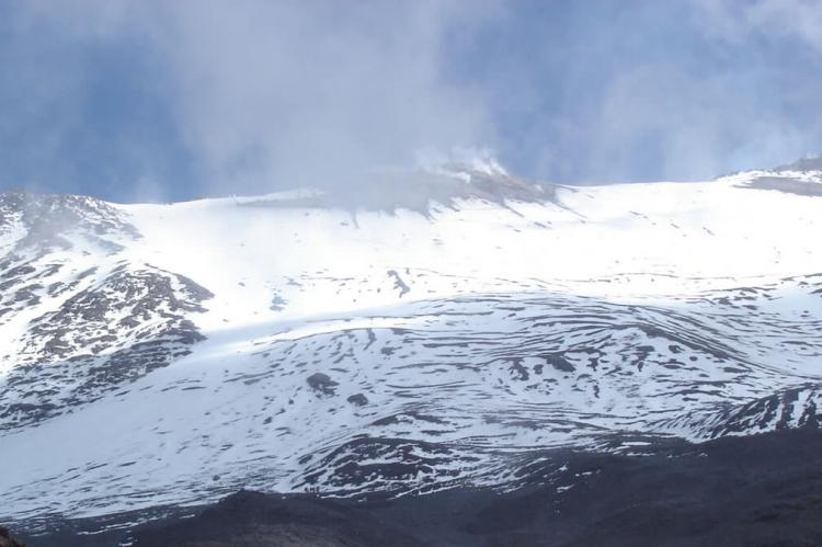 Eruptions of Sangay (seen from south ridge), Sangay National Park, Ecuador