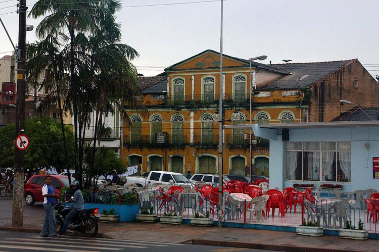 Fisherman's Square in town of Santarém, Brazil
