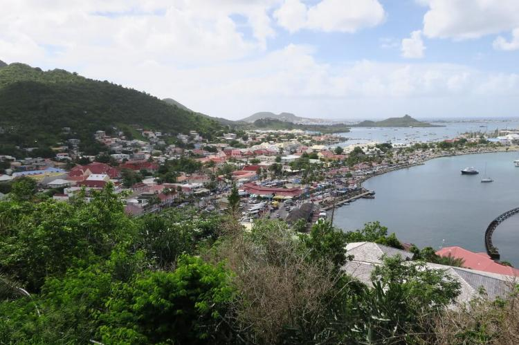 Panorama overlooking Marigot from Fort St. Louis, Saint-Martin