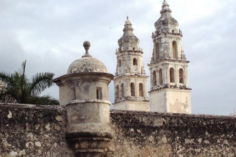 Fort of San Miguel, Cathedral of San Franciso, Campeche (Mexico)