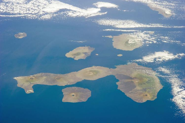 Galápagos Islands from the International Space Station