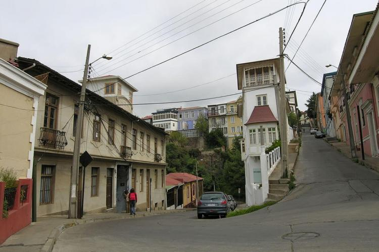 Historic quarter of the seaport city of Valparaíso, Chile
