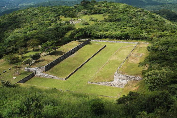 Ball field at Xochicalco (Mexico)