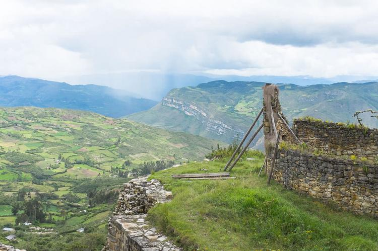View from the Kuelap fortress, Peru