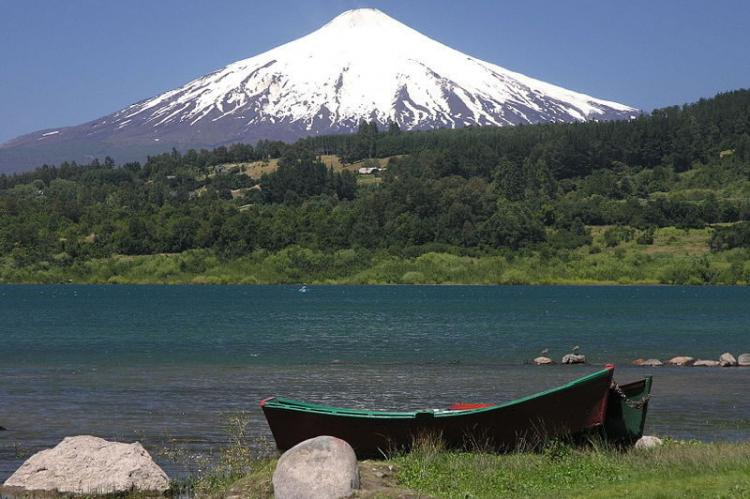 Villarrica Lake and Villarrica Volcano, Chile