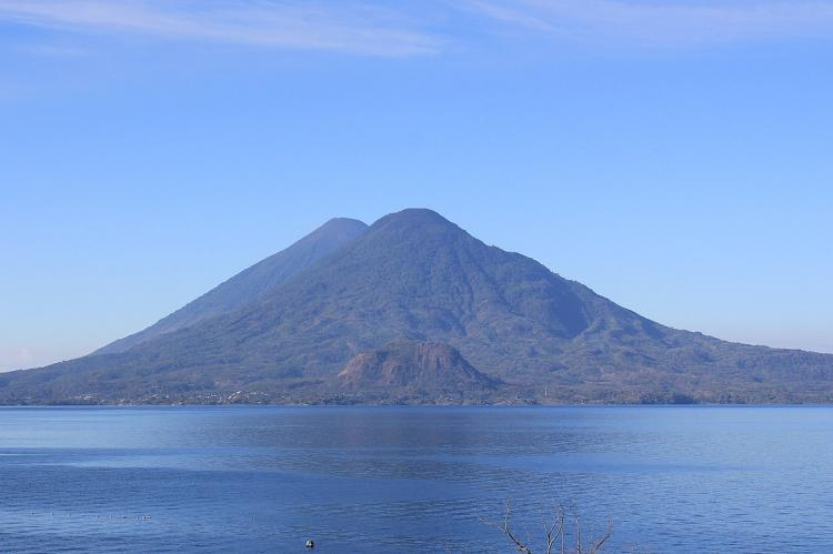 Lake Atitlán, Volcan Toliman and Volcan Atitlán in the Guatemalan Highlands of the Sierra Madre de Chiapas