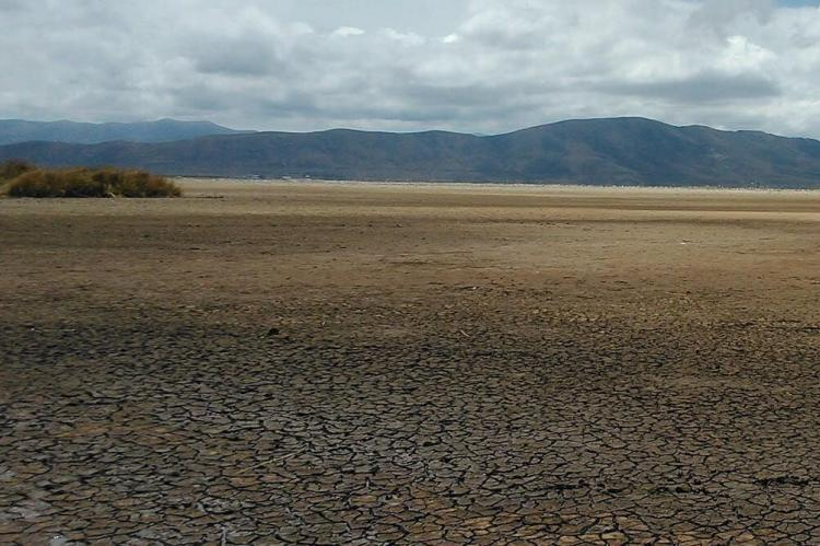 Lake Poopó at a low point in early 2016 (Bolivia)