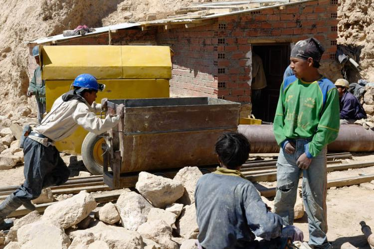 Miners at work, Potosí, Bolivia