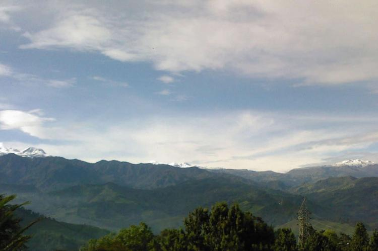 El Ruiz nevado (left), Santa Isabel nevado (center), Santa Rosa range or páramo (right), Colombia