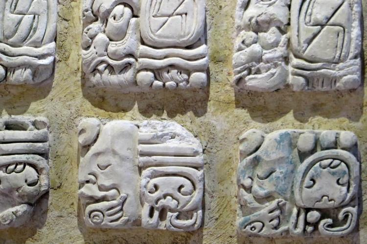 Mayan glyphs, Palenque, Mexico