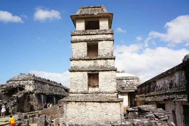 Palace observation tower, Palenque archaelogical site, Mexico