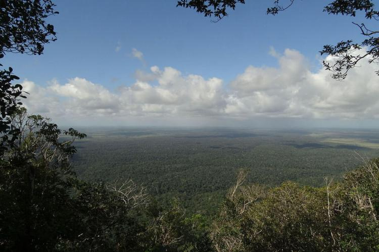Panorama of Monte Pascoal National Park, Brazil