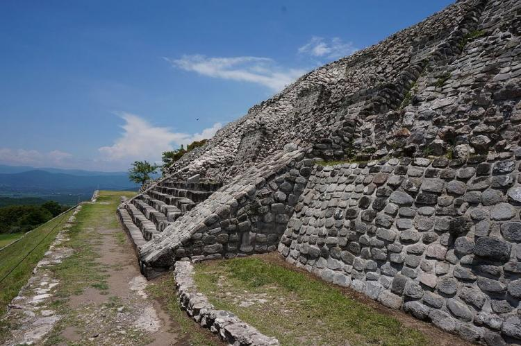 Pyramid at Xochicalco (Mexico)