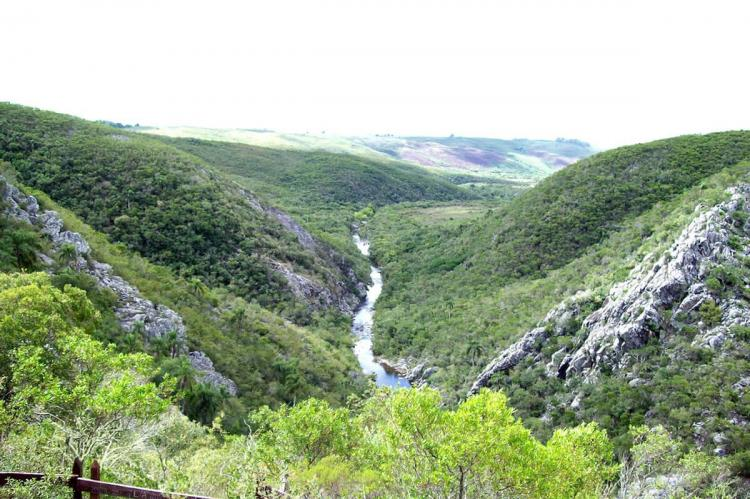 View of the upper part of the Quebrada de los Cuervos (Uruguay)