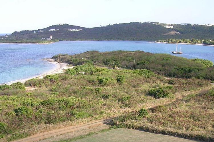 View of the Columbus crew landing site at Salt River Bay National Historical Park and Ecological Preserve, St Croix, USVI