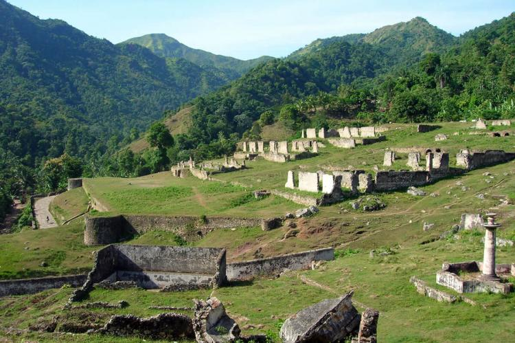 Gardens of the Sans-Souci palace, in Milot, Haiti