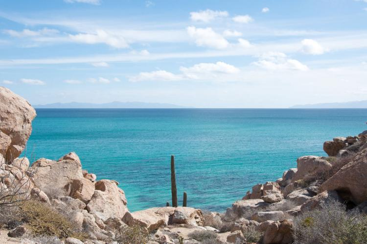 Looking across the Sea of Cortez to Baja California, Mexico