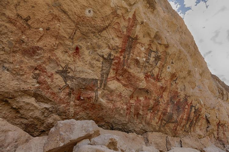 Rock Paintings of the Cochimi People, Canyon San Pablo - Sierra San Francisco